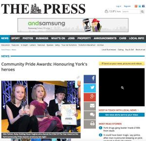 Community Pride Awards Honouring York's heroes