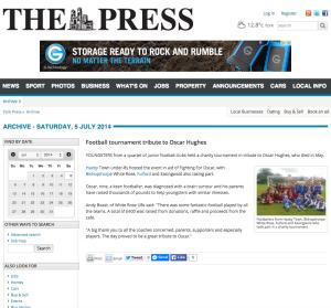 Football tournament tribute to Oscar Hughes