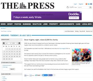 Oscar Raises £2000