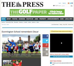 Dunnington School remembers Oscar