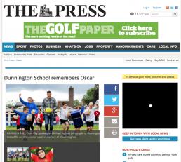 Dunnington School remembers Oscar