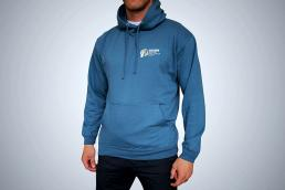 Blue Sports Hoodie Front