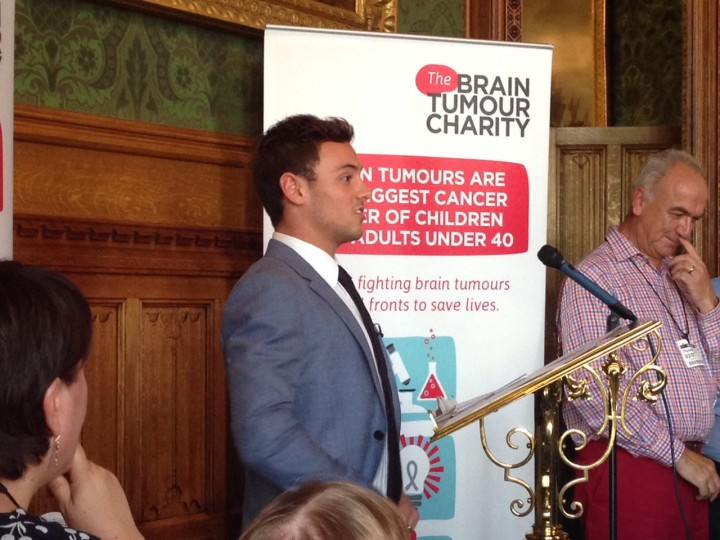 Tom Daley patron of The Brain Tumour Charity