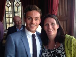 Tom Daley and Marie Hughes