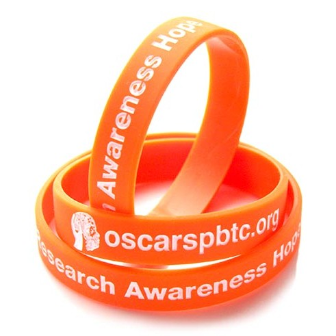 Orange OSCAR's PBTC wristbands