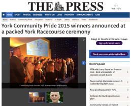 Community Pride Awards 2015